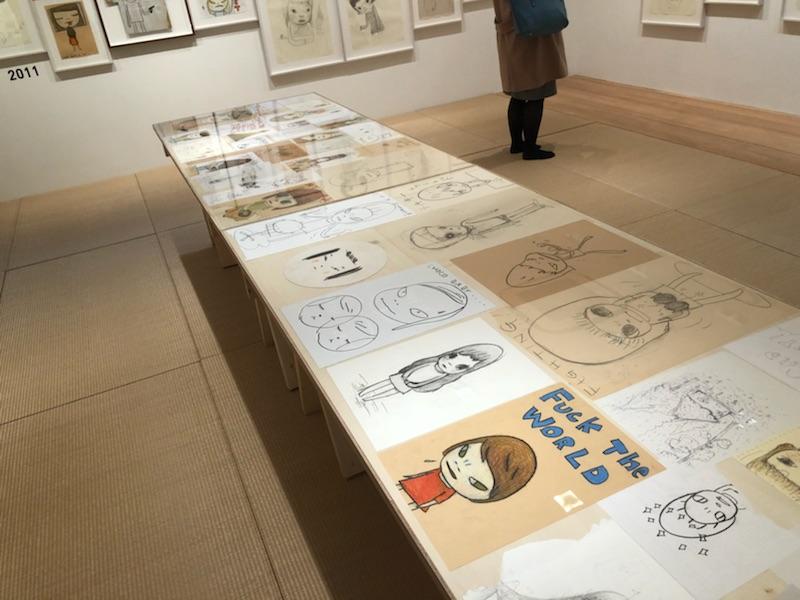 畳部屋もあるカイカイキキギャラリーの奈良美智展