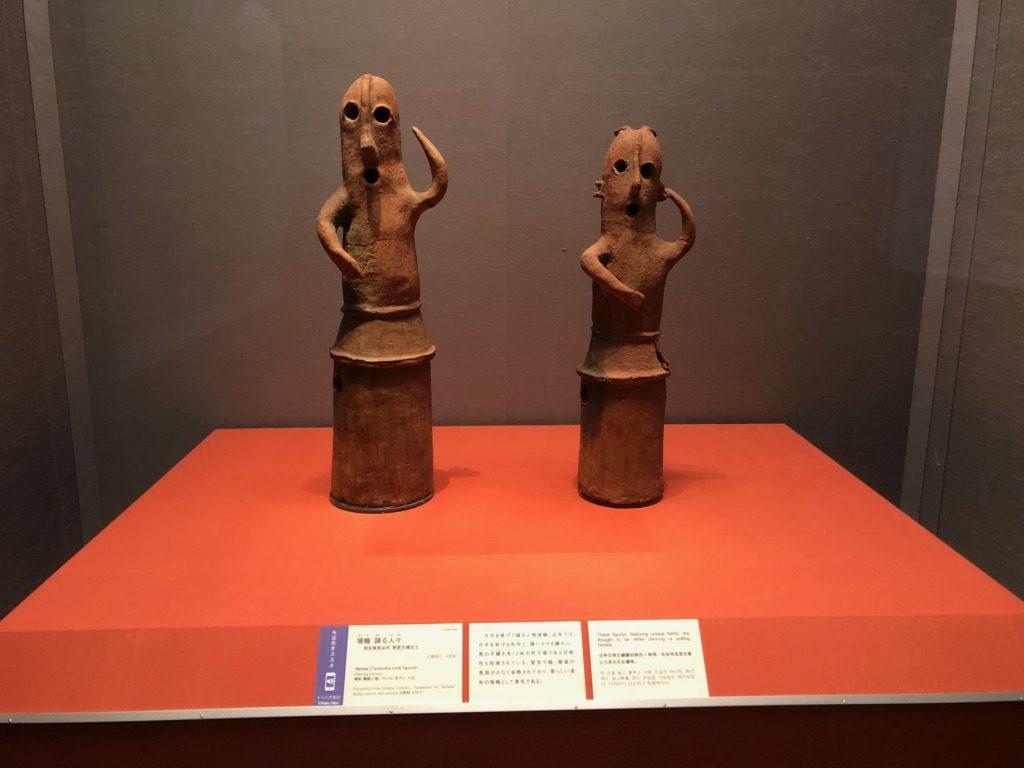 東京国立博物館の埴輪 踊る人々