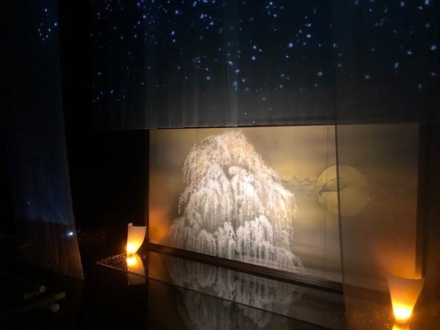 Re 又造展 加山又造展では、又造の作品とデジタルアートの融合を試みた展示作品があります