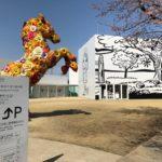 青森県十和田市の十和田市現代美術館の外観