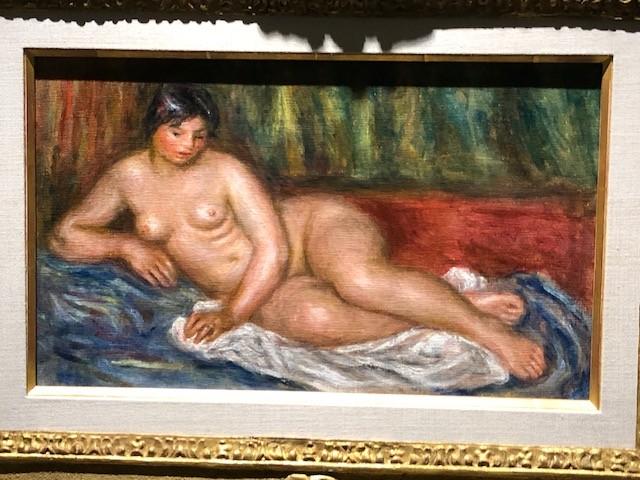 ルノワール「横たわる裸婦」(1917年ごろ)