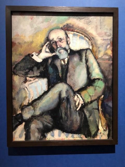《芸術家の父親の肖像》1910年