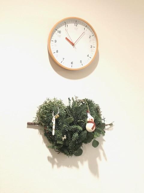 完成したクリスマス・リース